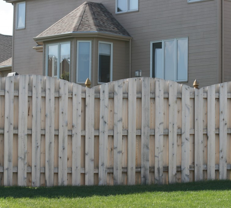 AFC Grand Island - Wood Fencing, 1012 6' overscallop board on board no stained