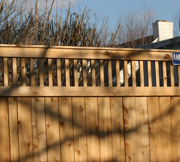 AFC Grand Island - Wood Fencing, 1059 Custom Solid with Accent Top