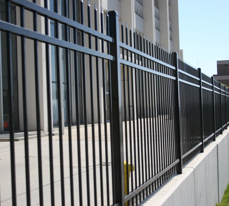 AFC Grand Island - Ornamental Fencing, 1078 Classic Black Energy Services Fence