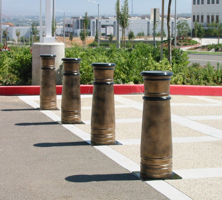 AFC Grand Island - K-Rated Vehicle Restraint Systems Fencing, 2114 Hydraulic Bollards