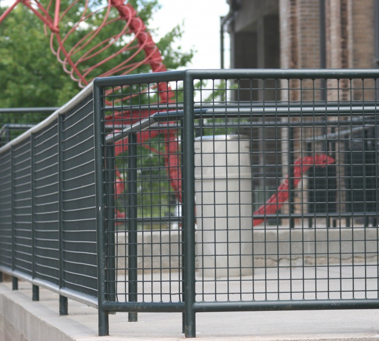 AFC Grand Island - Custom Railing, 2207 Railing with heavy mesh infill