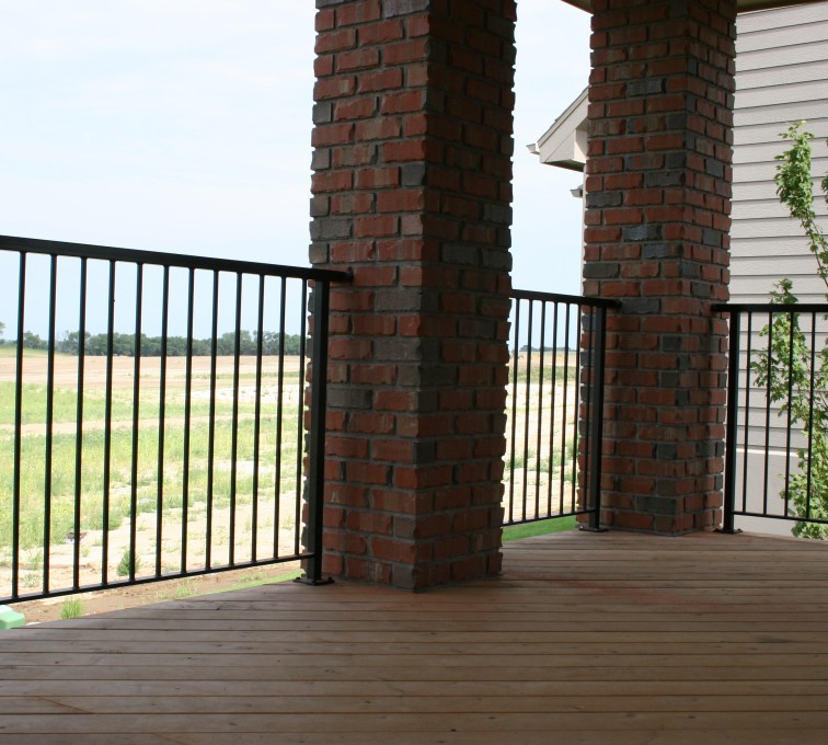 AFC Grand Island - Custom Railing, 2210 Deck railing