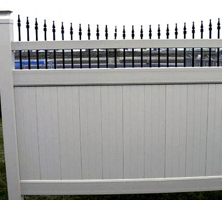 AFC Grand Island - Vinyl Fencing, 568 Black & Tan Underscallop
