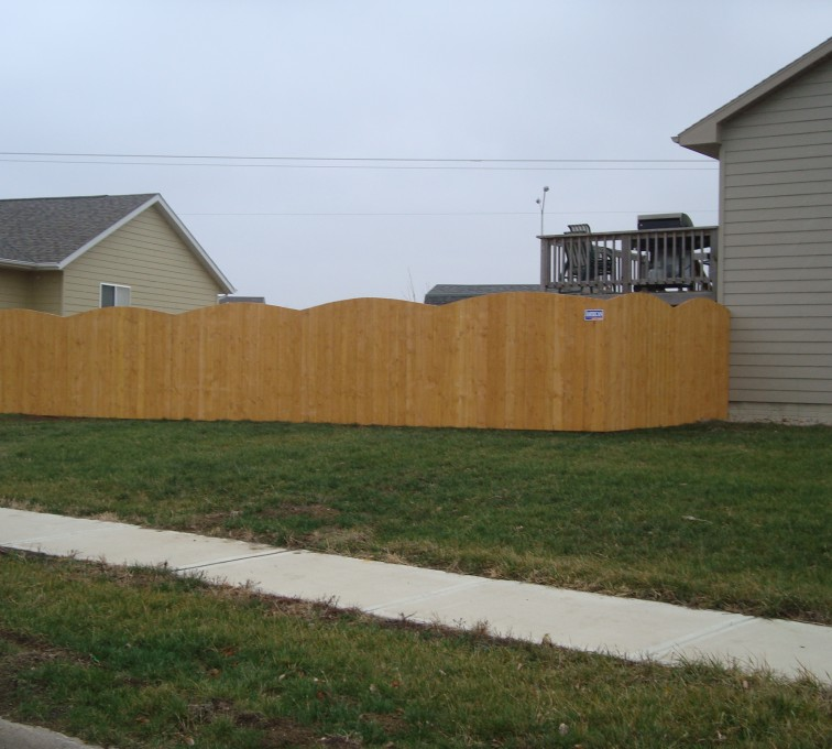 AFC Grand Island - Wood Fencing, Cedar Privacy Over Scallop AFC, SD