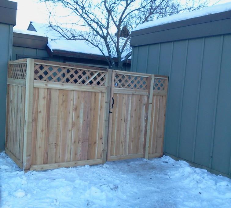 AFC Grand Island - Wood Fencing, Custom Wood Privacy with Lattice AFC, SD