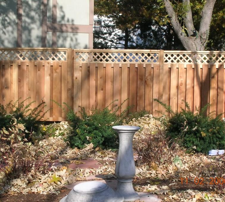 AFC Grand Island - Wood Fencing, Custom with lattice