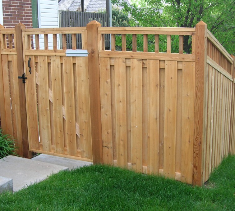 AFC Grand Island - Wood Fencing, Custom with wood picket accent