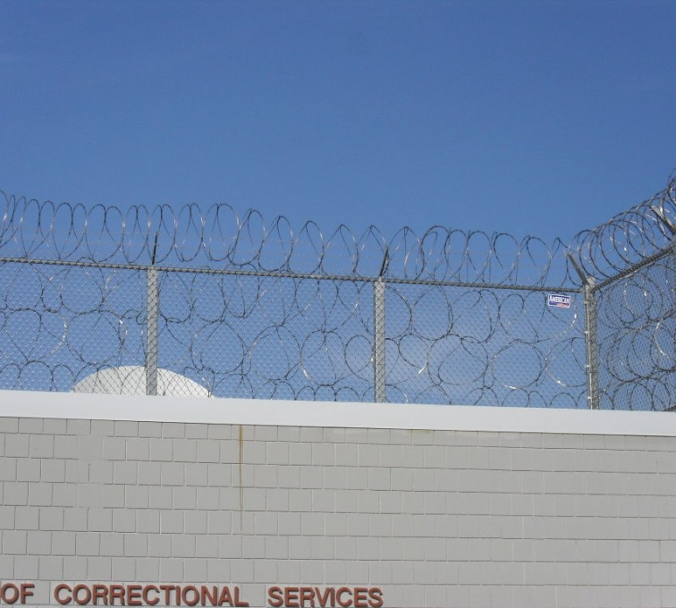 AFC Grand Island - High Security Fencing, Four Stack Concertina Wire