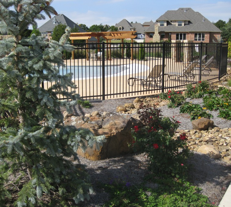 AFC Grand Island - Ameristar Ornamental Fencing, Montage Majestic @ pool (2)