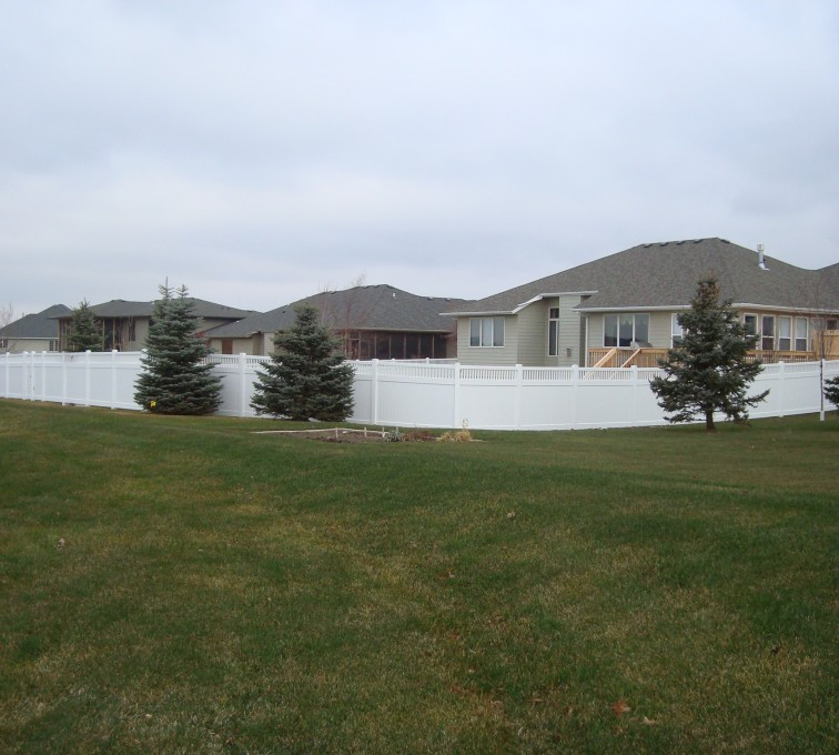 AFC Grand Island - Vinyl Fencing, Privacy With Picket Accent 2