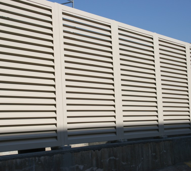 AFC Grand Island - Louvered Fence Systems Fencing, Steel Louvered Fence System