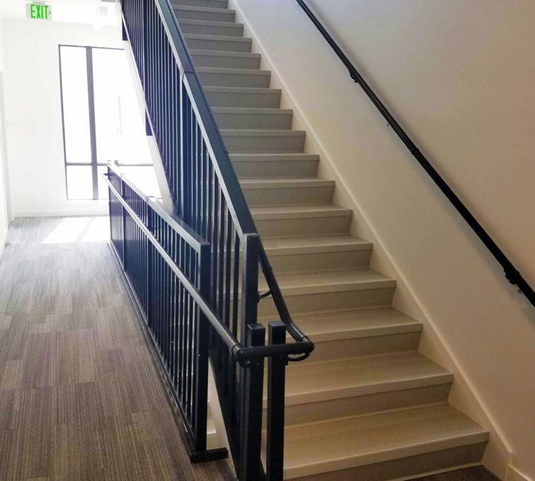 Custom Stair and Grab Rail Black Coated