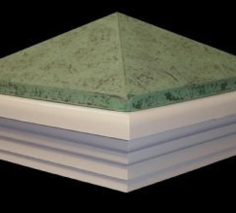 AFC Grand Island - Accessories, Classic Green Patina PVC Vinyl Fence Post Caps