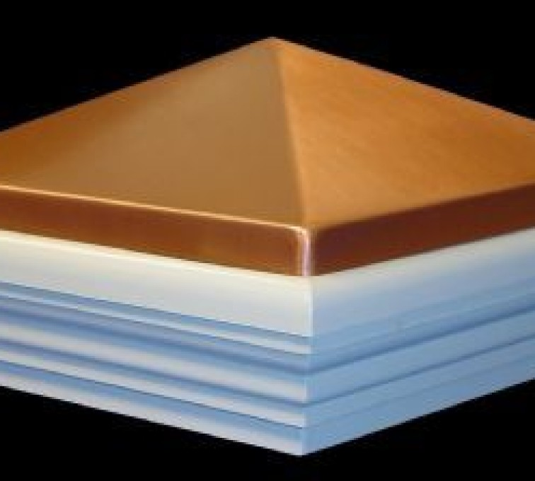 AFC Grand Island - Accessories, Copper Classic Style PVC Vinyl Fence Post Cap
