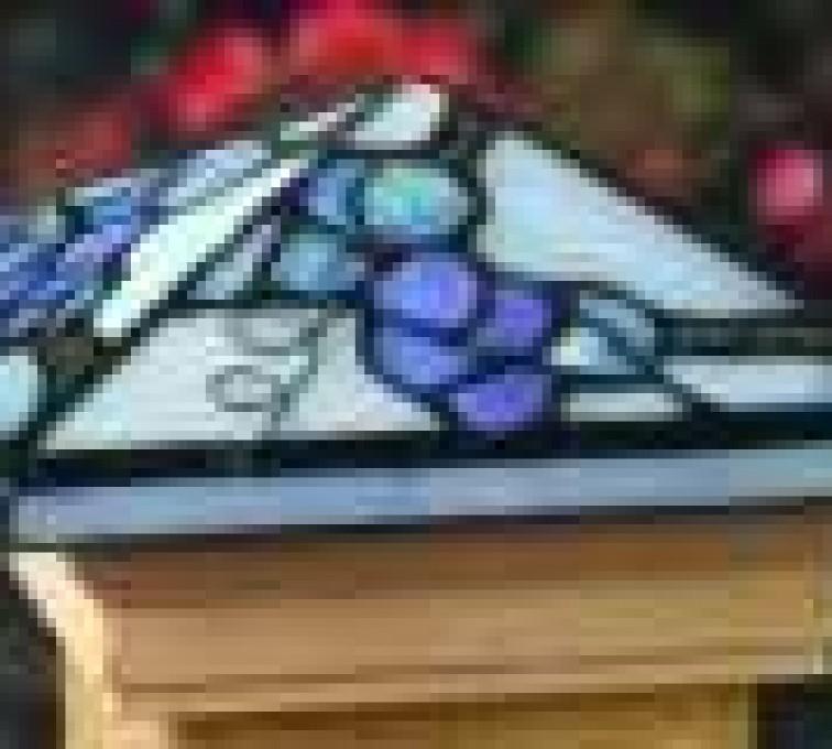 AFC Grand Island - Accessories, Grape Tiffany Style Cedar Wood Fence Post Cap
