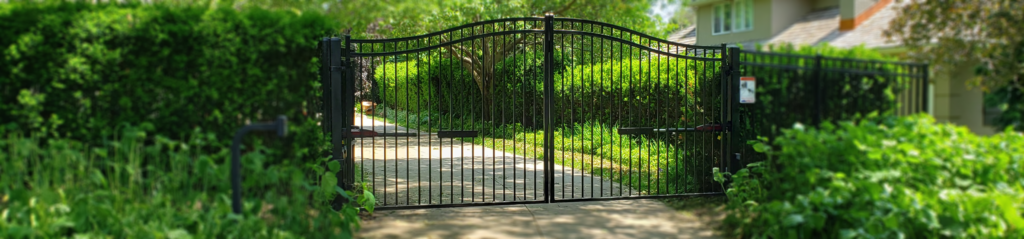Residential estate gate, double drive with swing gate openers